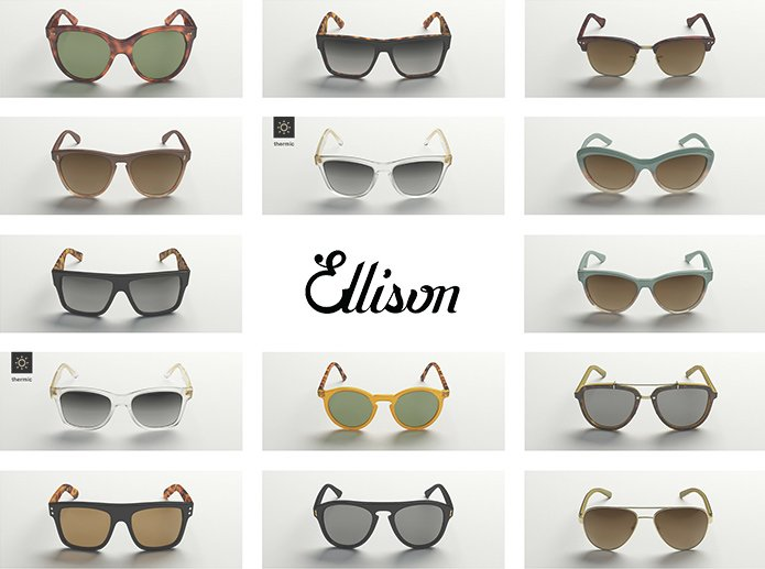 Ellison Eyewear product lineup