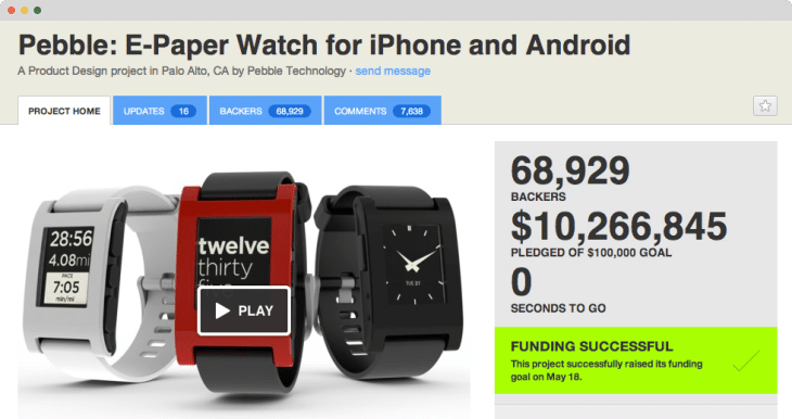 Pebble campaign example